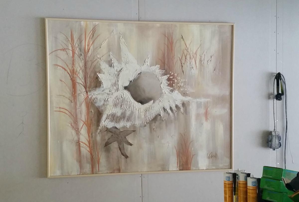 Foto av maleriet hos kunden