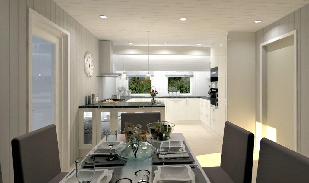 Planløsningen blir best med en kjøkkenøy