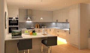 Kjøkkenøy gir her god planløsning