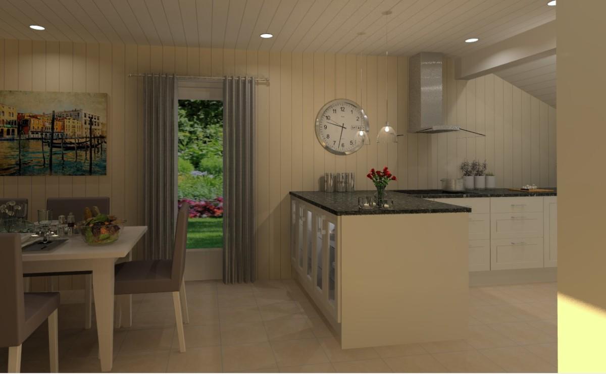 Kjøkkenøya blir førsteinntrykket