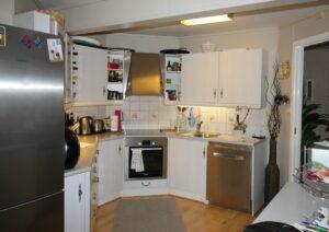 Kjøkkenet før endringer og oppussing