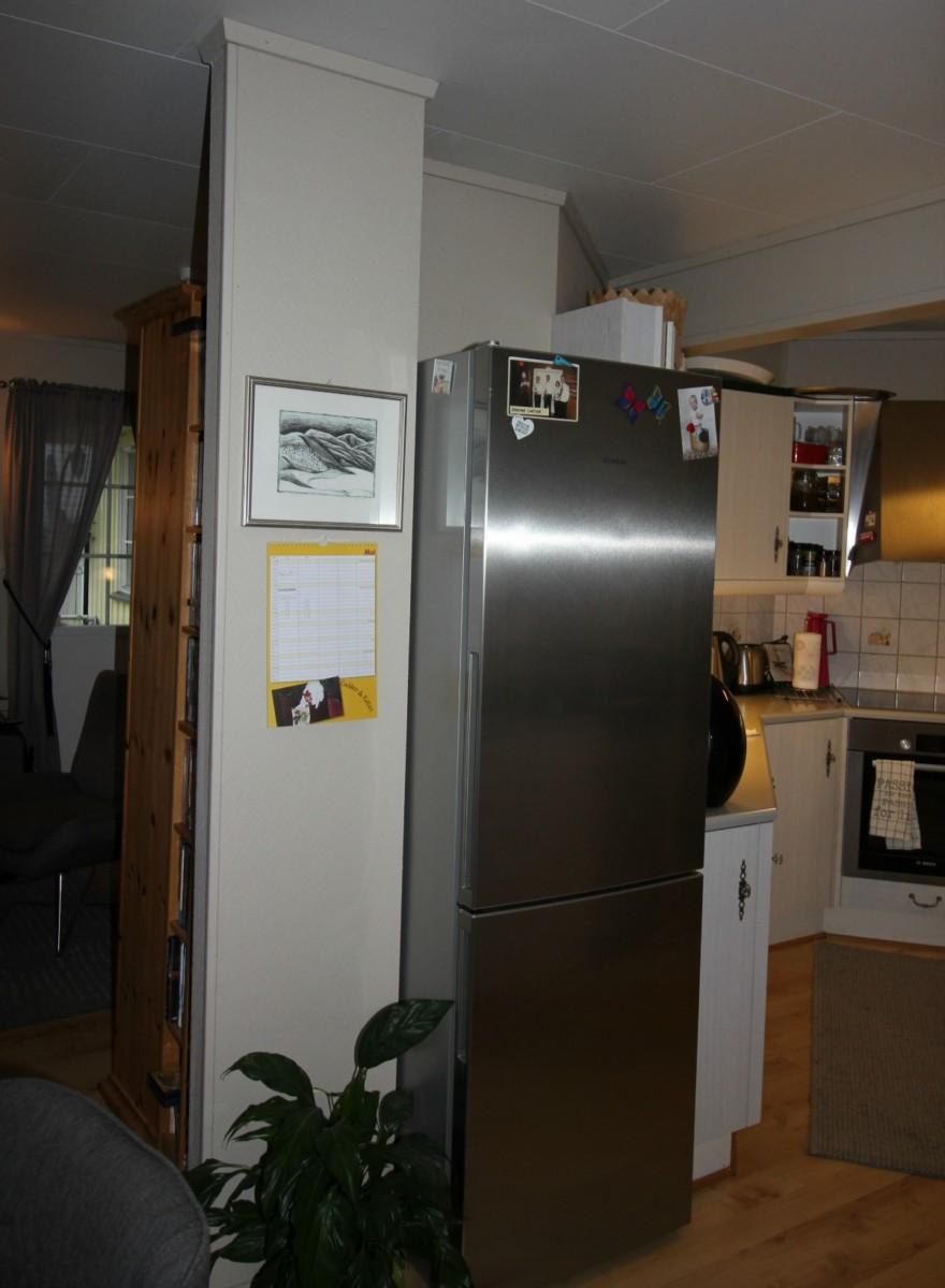 Kjøleskapet gjorde det trangt