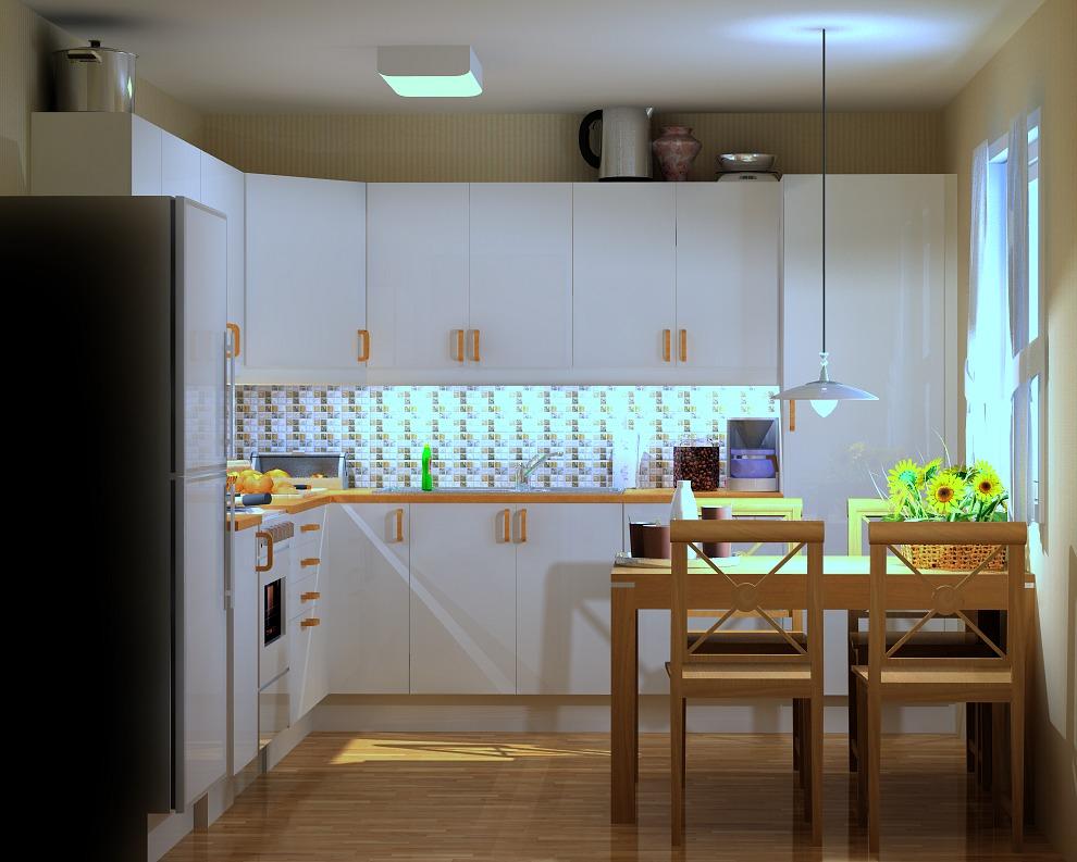 Kjøkkenet før oppussing sett fra døren