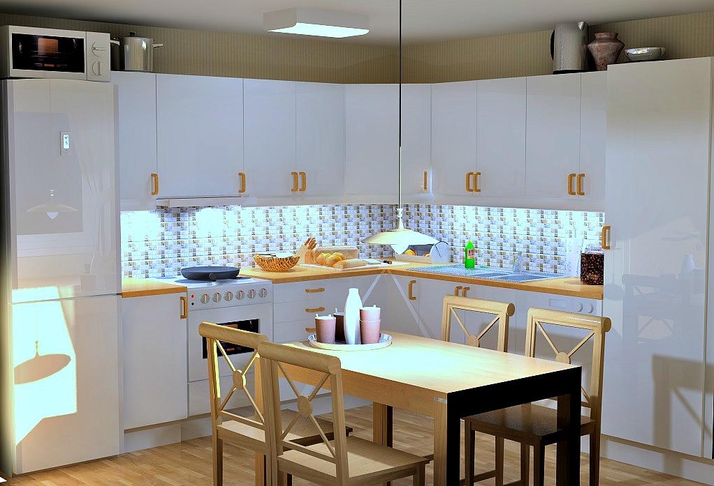 kjøkkenet før enkel oppussing