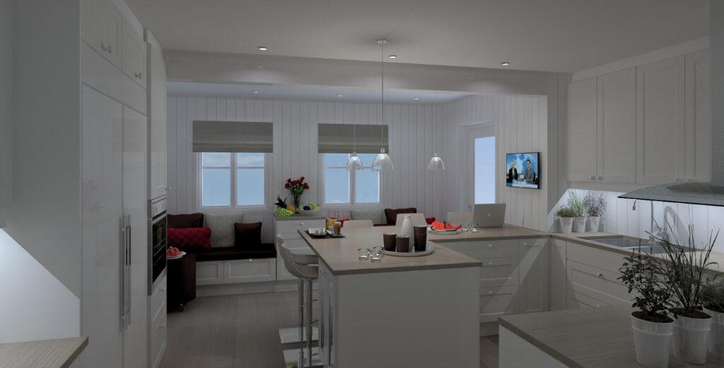 Kjøkkenet med forbedret arbeidstrekant