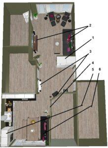 Forslag til endringer i leiligheten