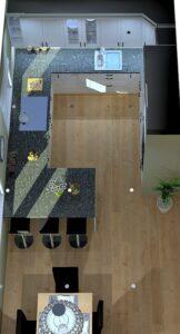 Forslaget til løsning med koketopp foran vindu