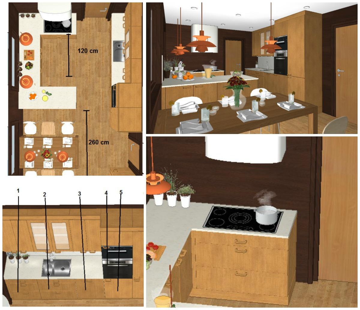 Arbeidstegninger til nytt kjøkken