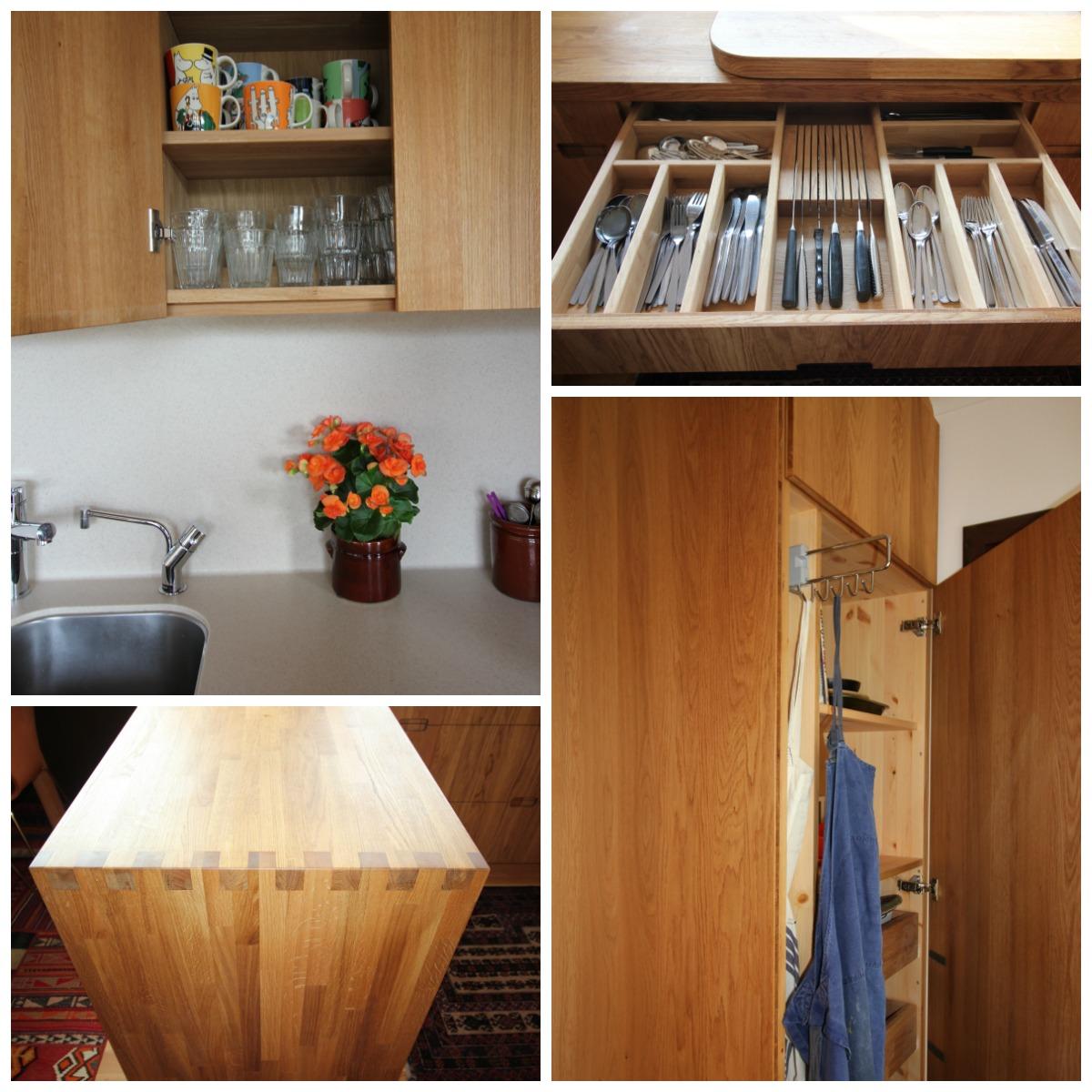 Flotte detaljer plassbygget kjøkken