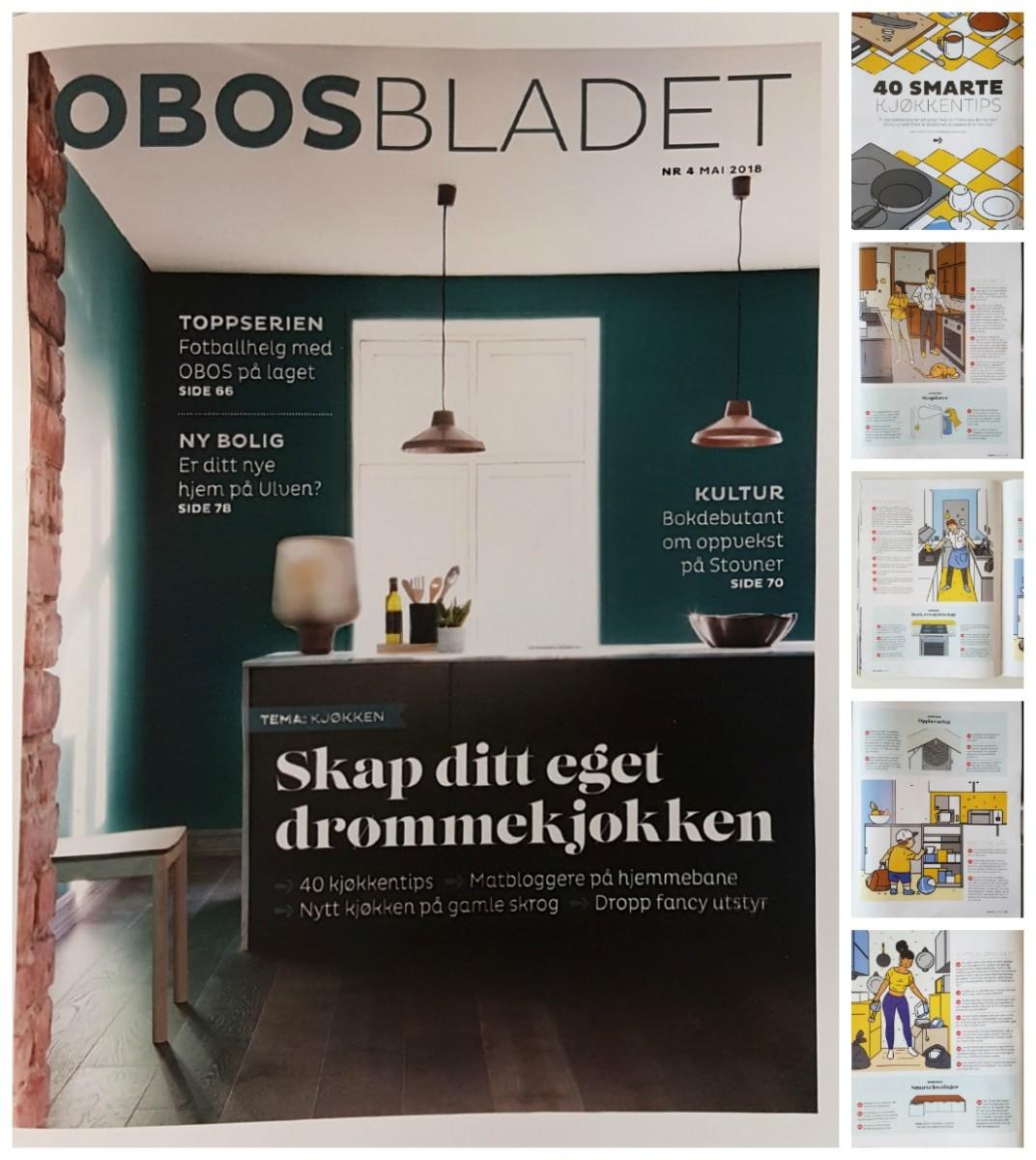 40 smarte kjøkkentips i artikkel i OBOS bladet