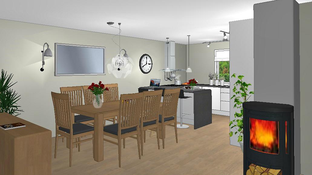 Kjøkken med halvøy