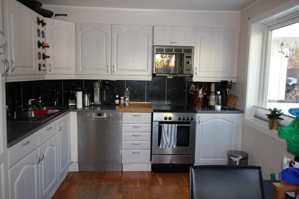 Kjøkkenet før oppussing