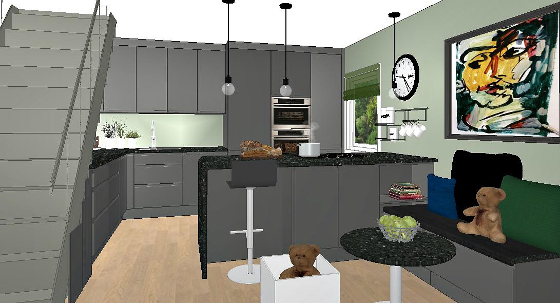 Forslaget til oppussing av kjøkkenet