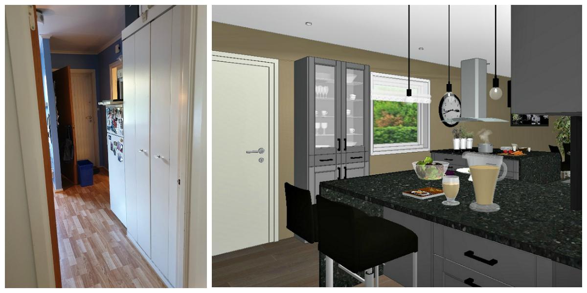 Kjøkkenøy blir førsteinntrykket på kjøkkenet
