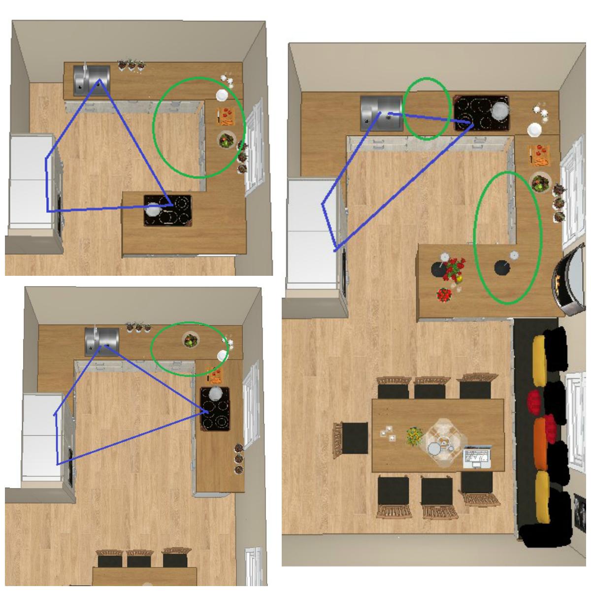 Alternative steder for plassering av koketopp