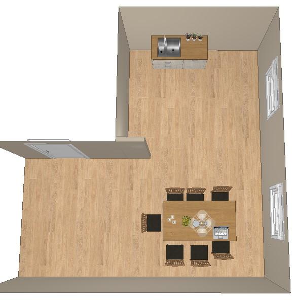 Rommet med vannets plassering inntegnet