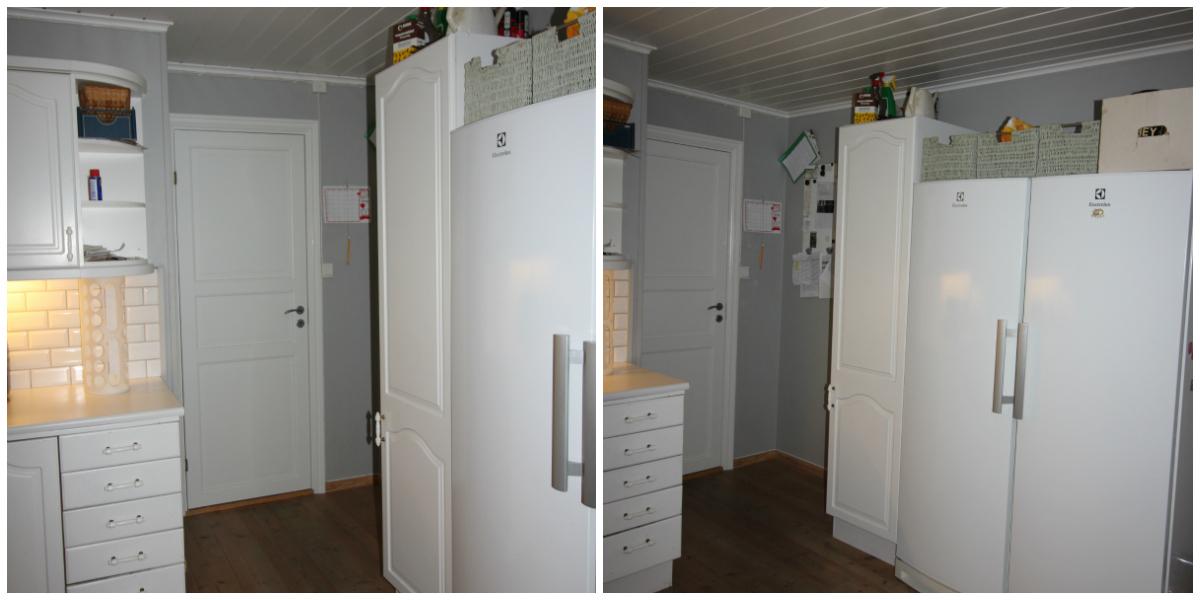 Plassering kjøleskap gjør rommet smalt