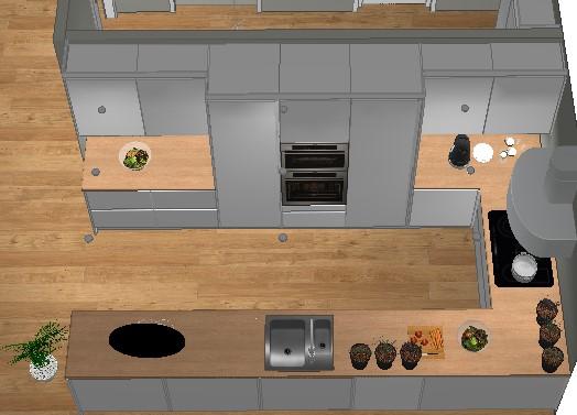 Plan dersom veggen tettes mellom gang og kjøkken