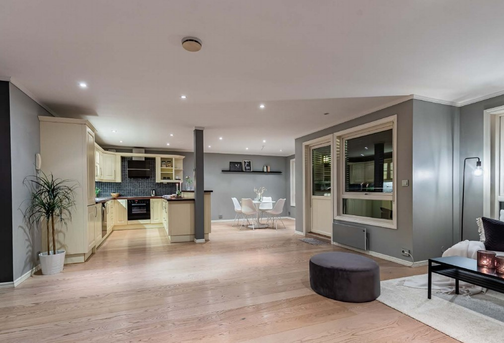 Kjøkkenet som skal pusses opp og flyttes i leiligheten