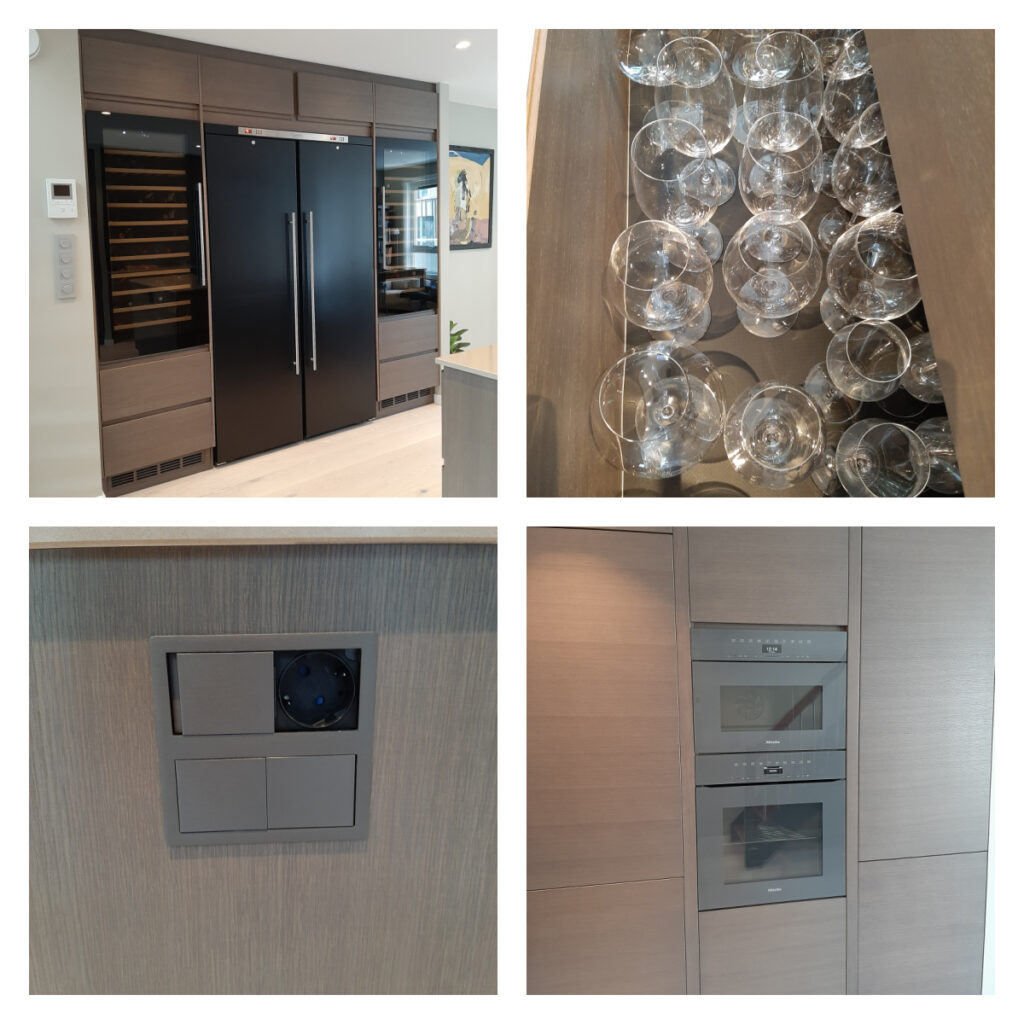 Detaljer av det nye kjøkkenet som ble flyttet