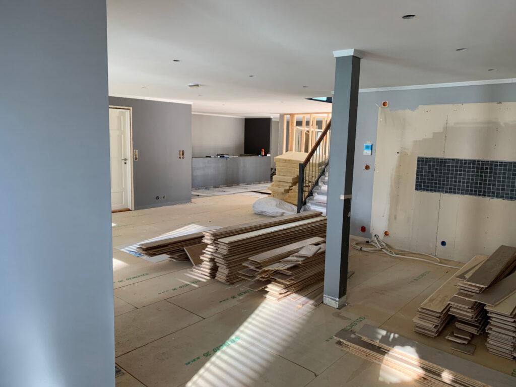Kjøkkenet er nå revet og klar for å flyttes
